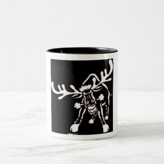 Angry Elk Two-Tone Mug