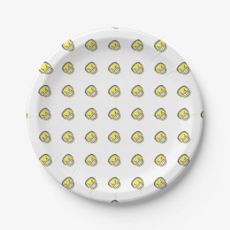 Angry Emoji Graphic Pattern 7 Inch Paper Plate