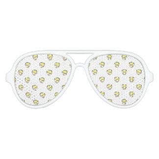 Angry Emoji Graphic Pattern Aviator Sunglasses