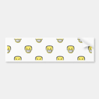 Angry Emoji Graphic Pattern Bumper Sticker