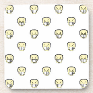 Angry Emoji Graphic Pattern Coaster