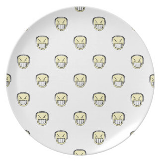 Angry Emoji Graphic Pattern Dinner Plates