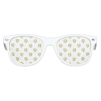 Angry Emoji Graphic Pattern Kids Sunglasses