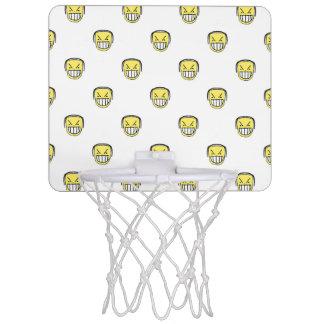 Angry Emoji Graphic Pattern Mini Basketball Hoop