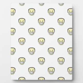 Angry Emoji Graphic Pattern Plaque