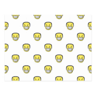 Angry Emoji Graphic Pattern Postcard
