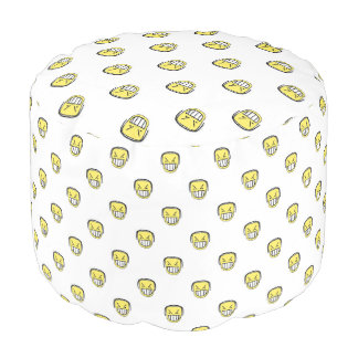 Angry Emoji Graphic Pattern Pouf