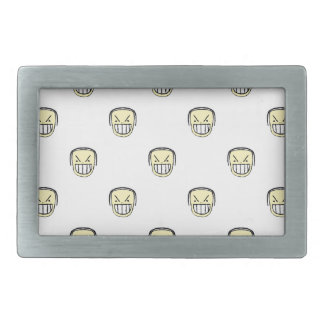 Angry Emoji Graphic Pattern Rectangular Belt Buckles