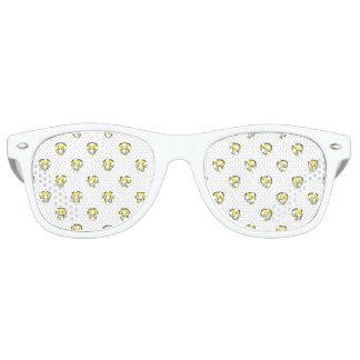 Angry Emoji Graphic Pattern Retro Sunglasses