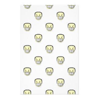 Angry Emoji Graphic Pattern Stationery