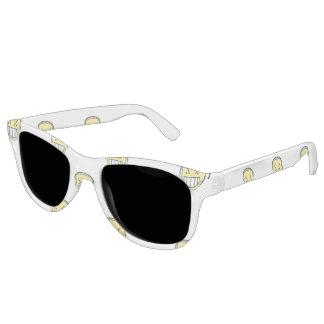 Angry Emoji Graphic Pattern Sunglasses