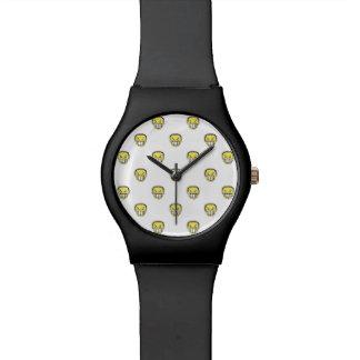 Angry Emoji Graphic Pattern Wrist Watch