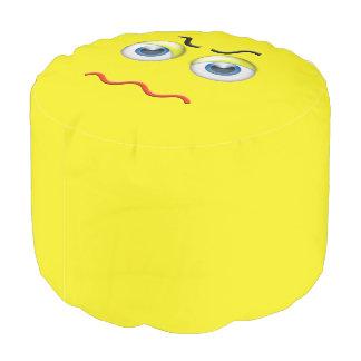 Angry Emoji Pouf