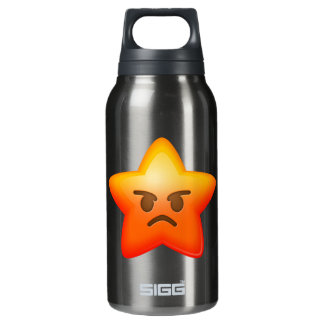 Angry Emoji Star Insulated Water Bottle