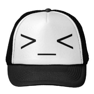 >_< Angry Emoticon Hat