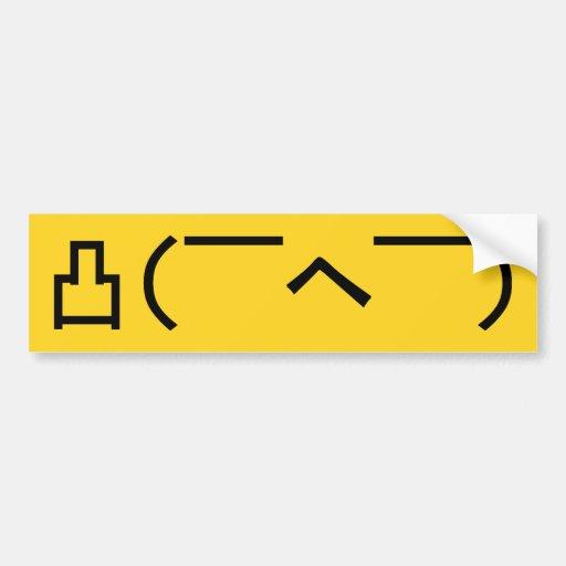 Angry Emoticon Japanese Kaomoji Bumper Sticker