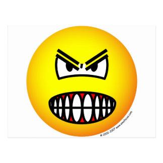 Angry emoticon postcard