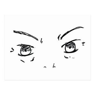 Angry Eyes 1 Postcard