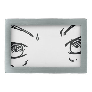 Angry Eyes 1 Rectangular Belt Buckles