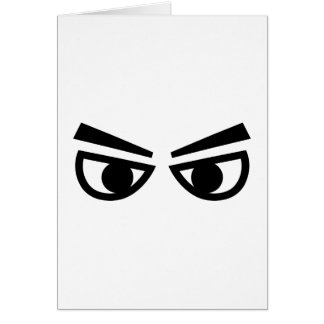 Angry eyes card