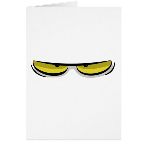 Angry eyes greeting cards
