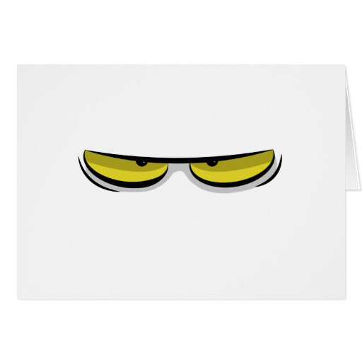 Angry eyes cards