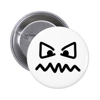 Angry eyes face pinback button
