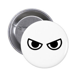 Angry eyes face pins