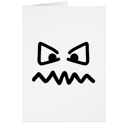 Angry eyes face greeting card