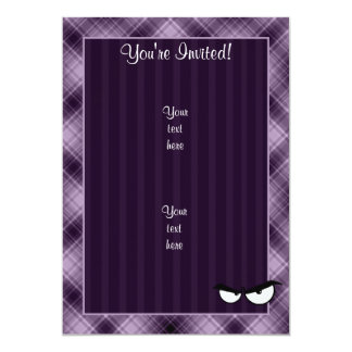 Angry Eyes; Purple 5x7 Paper Invitation Card