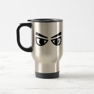 Angry eyes travel mug
