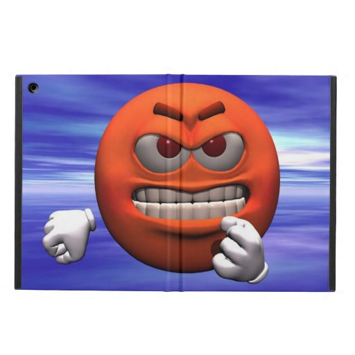 Angry face iPad air cases