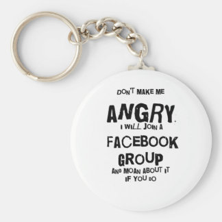 angry facebook basic round button key ring