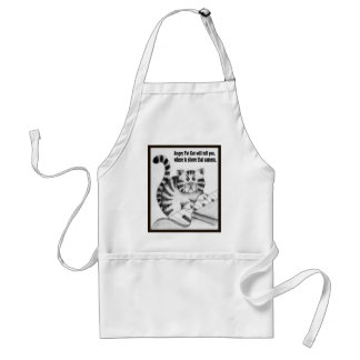 Angry Fat Cat will tell you ....... Standard Apron
