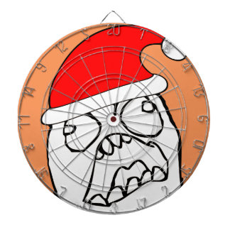 Angry FFFUUU xmas meme Dart Board