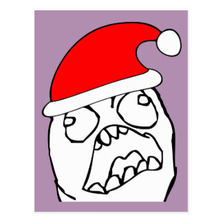 Angry FFFUUU xmas meme Post Cards