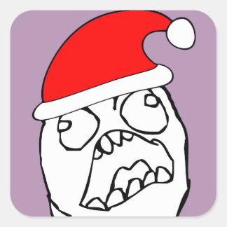 Angry FFFUUU xmas meme Square Sticker
