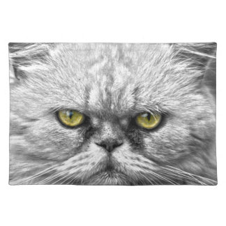 Angry Golden Cat Eyes Placemat