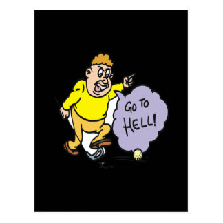 Angry Golfer Postcard