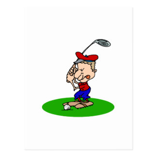 Angry Golfer Postcards
