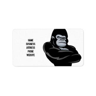 angry  gorilla address label