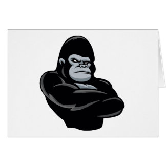 angry  gorilla card