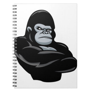 angry  gorilla note books