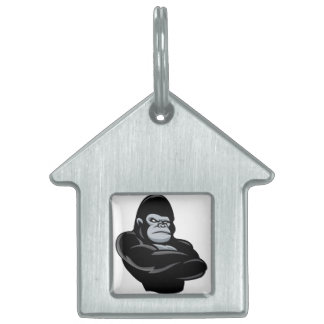 angry  gorilla pet tag