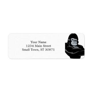 angry  gorilla return address label