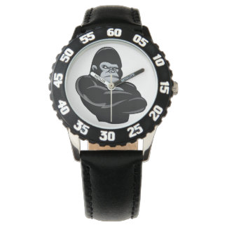 angry  gorilla watches