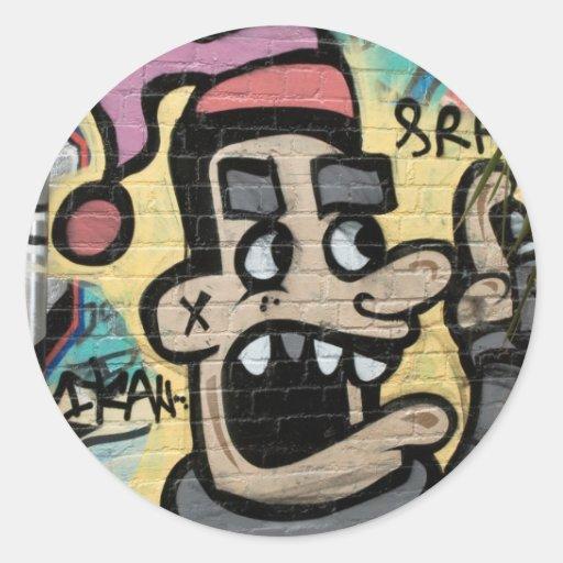 Angry Graffiti Man Stickers