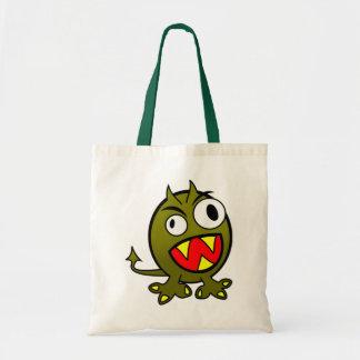 Angry Green Monster Budget Tote Bag