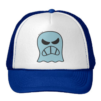 Angry Halloween Ghost Cap