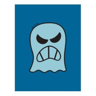 Angry Halloween Ghost Postcard